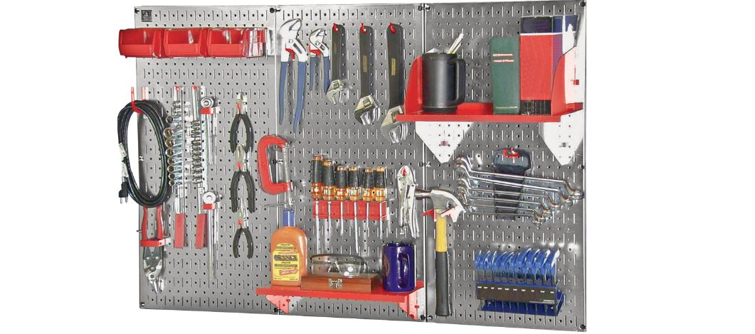 Wall Control Slotted Industrial Workstation Accessory Kit