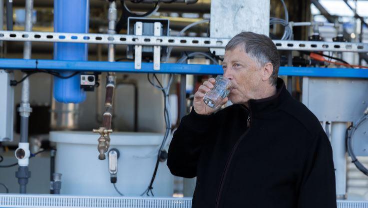 Drinks poop water – Bill Gates