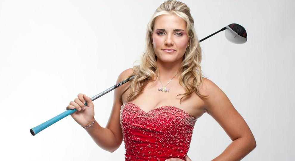 Female celebrity golfers ukulele